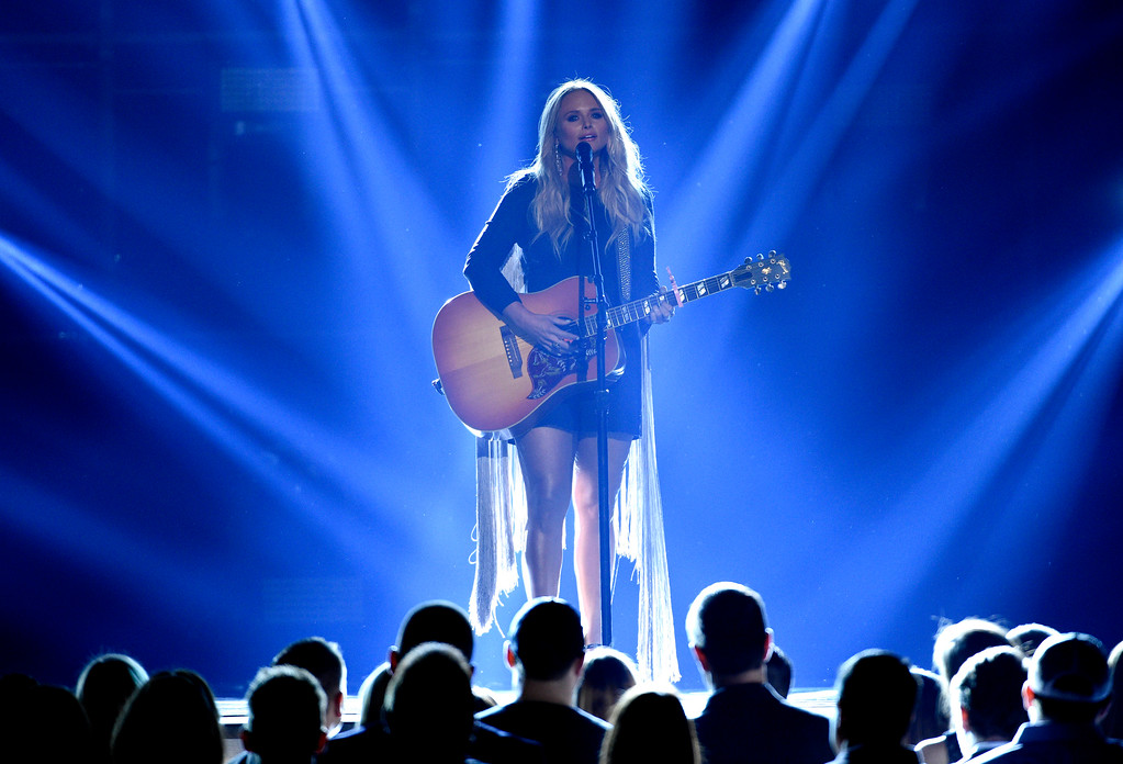 ". Miranda Lambert performs ""Tin Man\"" at the 52nd annual Academy of Country Music Awards at the T-Mobile Arena on Sunday, April 2, 2017, in Las Vegas. (Photo by Chris Pizzello/Invision/AP)"