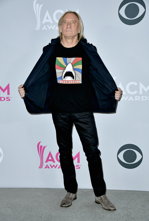. LAS VEGAS, NV - APRIL 02:  Singer-songwriter Joe Walsh poses in the press room during the 52nd Academy Of Country Music Awards at T-Mobile Arena on April 2, 2017 in Las Vegas, Nevada.  (Photo by Frazer Harrison/Getty Images)