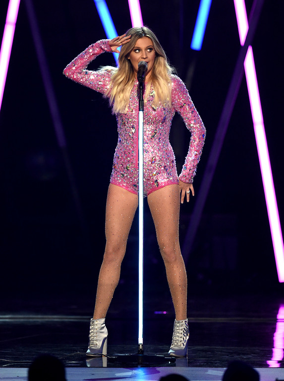 . LAS VEGAS, NV - APRIL 02:  Recording artist Kelsea Ballerini performs onstage during the 52nd Academy Of Country Music Awards at T-Mobile Arena on April 2, 2017 in Las Vegas, Nevada.  (Photo by Ethan Miller/Getty Images)
