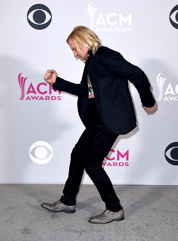 . Joe Walsh poses in the press room at the 52nd annual Academy of Country Music Awards at the T-Mobile Arena on Sunday, April 2, 2017, in Las Vegas. (Photo by Jordan Strauss/Invision/AP)