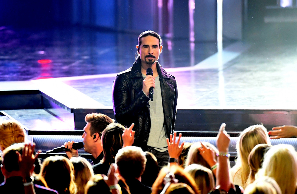. LAS VEGAS, NV - APRIL 02:  Recording artist Kevin Richardson of music group Backstreet Boys performs onstage during the 52nd Academy Of Country Music Awards at T-Mobile Arena on April 2, 2017 in Las Vegas, Nevada.  (Photo by Ethan Miller/Getty Images)