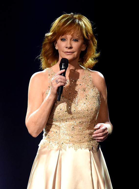 . LAS VEGAS, NV - APRIL 02:  Recording artist Reba McEntire performs onstage during the 52nd Academy Of Country Music Awards at T-Mobile Arena on April 2, 2017 in Las Vegas, Nevada.  (Photo by Ethan Miller/Getty Images)
