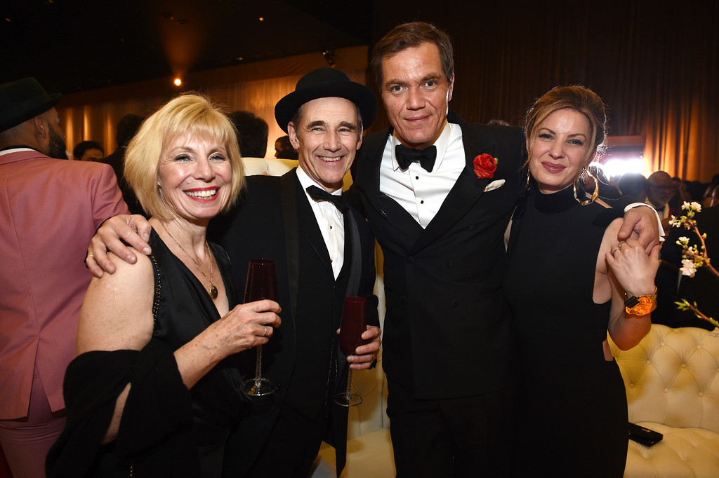 . Claire van Kampen, from left, Mark Rylance, Michael Shannon and Kate Arrington attend the Governors Ball after the Oscars on Sunday, Feb. 26, 2017, at the Dolby Theatre in Los Angeles. (Photo by Al Powers/Invision/AP)