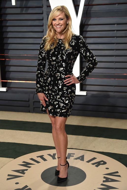 . Reese Witherspoon arrives at the Vanity Fair Oscar Party on Sunday, Feb. 26, 2017, in Beverly Hills, Calif. (Photo by Evan Agostini/Invision/AP)