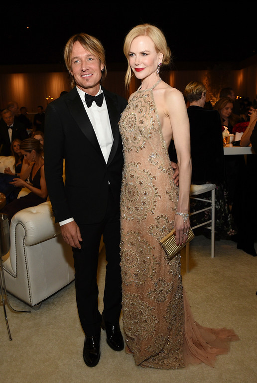 . Keith Urban, left, and Nicole Kidman attend the Governors Ball after the Oscars on Sunday, Feb. 26, 2017, at the Dolby Theatre in Los Angeles. (Photo by Al Powers/Invision/AP)