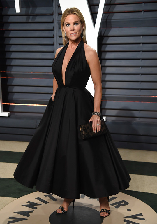 . Cheryl Hines arrives at the Vanity Fair Oscar Party on Sunday, Feb. 26, 2017, in Beverly Hills, Calif. (Photo by Evan Agostini/Invision/AP)