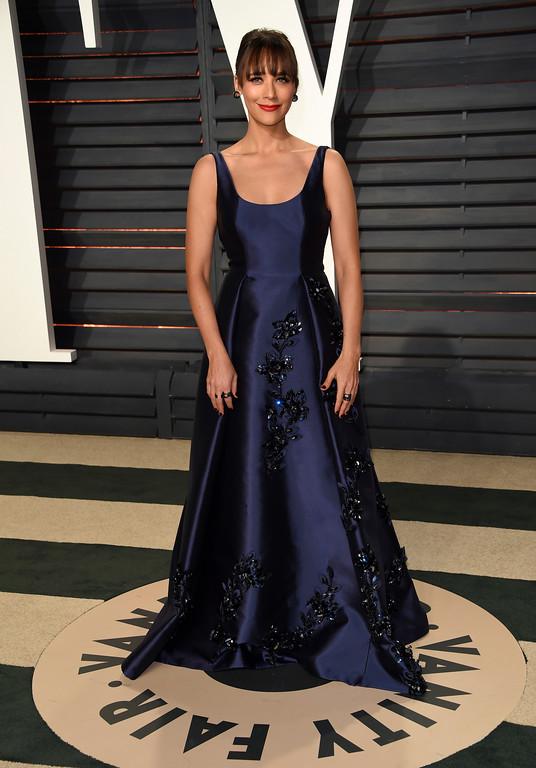 . Rashida Jones arrives at the Vanity Fair Oscar Party on Sunday, Feb. 26, 2017, in Beverly Hills, Calif. (Photo by Evan Agostini/Invision/AP)