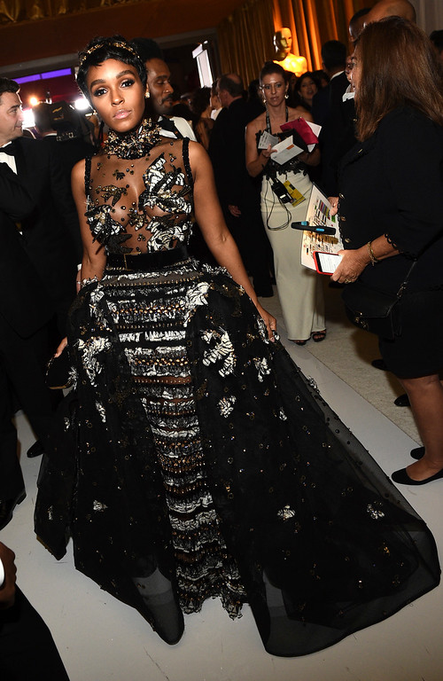 . Janelle Monae attends the Governors Ball after the Oscars on Sunday, Feb. 26, 2017, at the Dolby Theatre in Los Angeles. (Photo by Al Powers/Invision/AP)