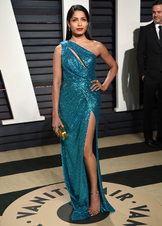 . Freida Pinto arrives at the Vanity Fair Oscar Party on Sunday, Feb. 26, 2017, in Beverly Hills, Calif. (Photo by Evan Agostini/Invision/AP)