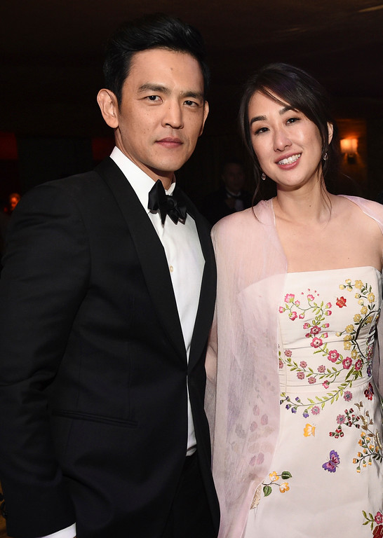 . John Cho, left, and Kerri Higuchi attend the Governors Ball after the Oscars on Sunday, Feb. 26, 2017, at the Dolby Theatre in Los Angeles. (Photo by Al Powers/Invision/AP)
