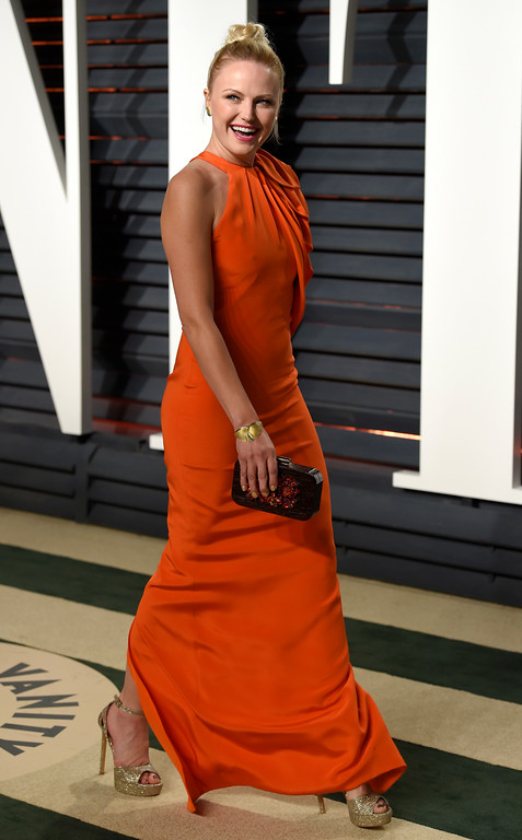 . Malin Akerman arrives at the Vanity Fair Oscar Party on Sunday, Feb. 26, 2017, in Beverly Hills, Calif. (Photo by Evan Agostini/Invision/AP)