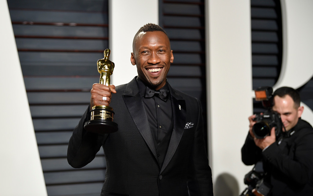 . Mahershala Ali arrives at the Vanity Fair Oscar Party on Monday, Feb. 27, 2017, in Beverly Hills, Calif. (Photo by Evan Agostini/Invision/AP)