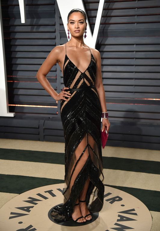 . Model Shanina Shaik arrives at the Vanity Fair Oscar Party on Sunday, Feb. 26, 2017, in Beverly Hills, Calif. (Photo by Evan Agostini/Invision/AP)
