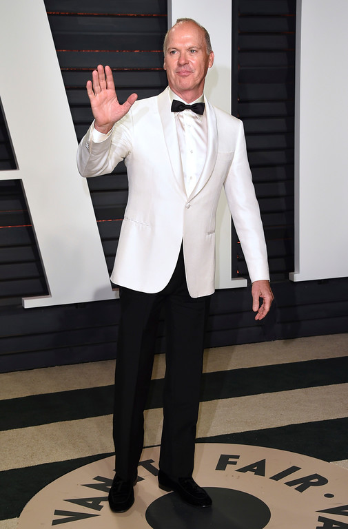 . Michael Keaton arrives at the Vanity Fair Oscar Party on Sunday, Feb. 26, 2017, in Beverly Hills, Calif. (Photo by Evan Agostini/Invision/AP)