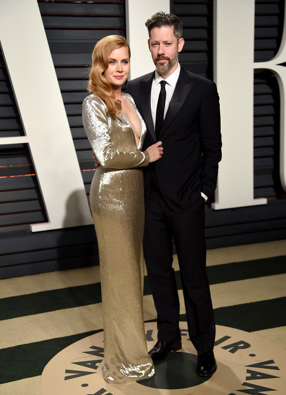 . Amy Adams, left, and Darren Le Gallo arrive at the Vanity Fair Oscar Party on Sunday, Feb. 26, 2017, in Beverly Hills, Calif. (Photo by Evan Agostini/Invision/AP)