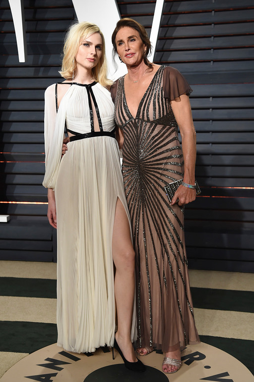 . Andreja Pejic, left, and Catlyn Jenner arrive at the Vanity Fair Oscar Party on Sunday, Feb. 26, 2017, in Beverly Hills, Calif. (Photo by Evan Agostini/Invision/AP)