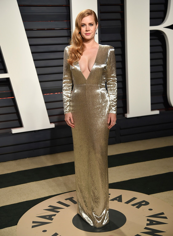 . Amy Adams arrives at the Vanity Fair Oscar Party on Sunday, Feb. 26, 2017, in Beverly Hills, Calif. (Photo by Evan Agostini/Invision/AP)