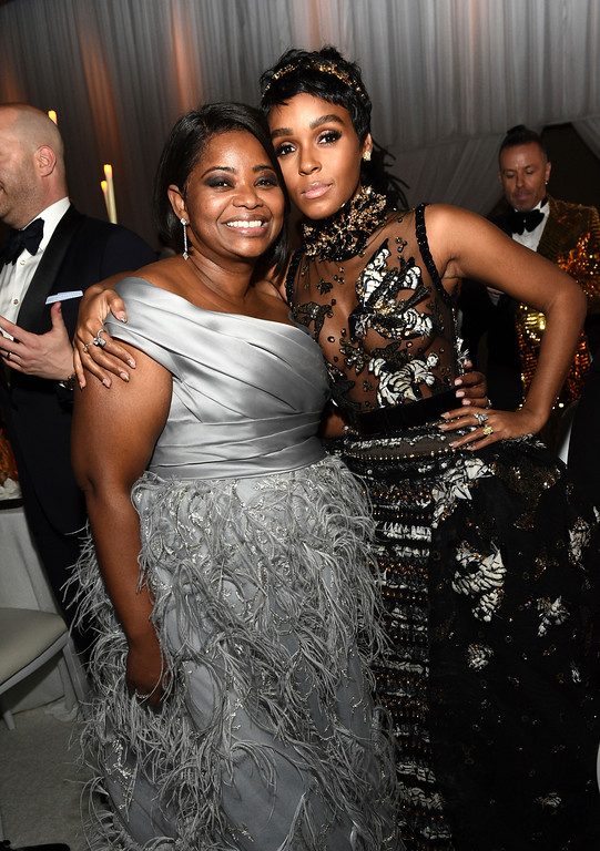. Octavia Spencer, left, and Janelle Monae attend the Governors Ball after the Oscars on Sunday, Feb. 26, 2017, at the Dolby Theatre in Los Angeles. (Photo by Al Powers/Invision/AP)