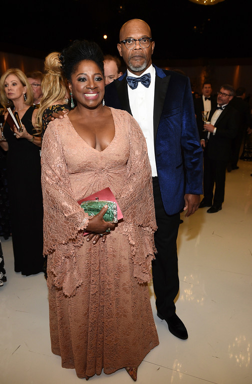 . LaTanya Richardson, left, and Samuel L. Jackson attend the Governors Ball after the Oscars on Sunday, Feb. 26, 2017, at the Dolby Theatre in Los Angeles. (Photo by Al Powers/Invision/AP)