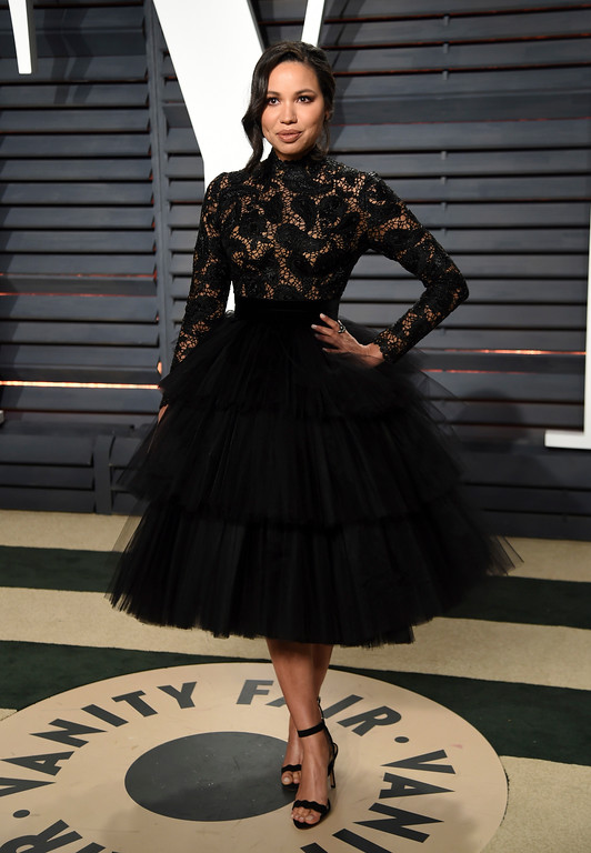 . Actress Jurnee Smollett-Bell arrives at the Vanity Fair Oscar Party on Monday, Feb. 27, 2017, in Beverly Hills, Calif. (Photo by Evan Agostini/Invision/AP)