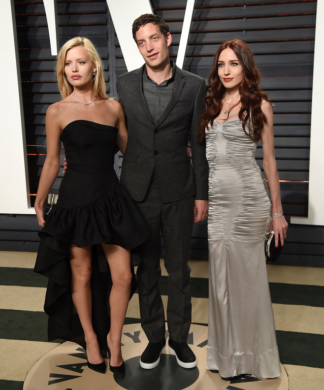 . Georgia May Jagger, from left, James Jagger, and Elizabeth Jagger arrive at the Vanity Fair Oscar Party on Sunday, Feb. 26, 2017, in Beverly Hills, Calif. (Photo by Evan Agostini/Invision/AP)