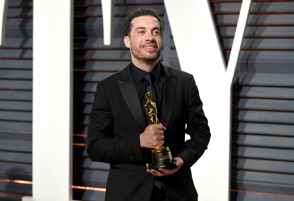 . Ezra Edelman arrives at the Vanity Fair Oscar Party on Monday, Feb. 27, 2017, in Beverly Hills, Calif. (Photo by Evan Agostini/Invision/AP)