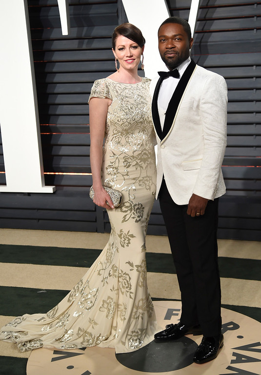 . Jessica Oyelowo, left, and David Oyelowo arrive at the Vanity Fair Oscar Party on Monday, Feb. 27, 2017, in Beverly Hills, Calif. (Photo by Evan Agostini/Invision/AP)