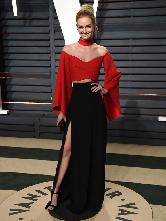 . Lydia Hearst arrives at the Vanity Fair Oscar Party on Sunday, Feb. 26, 2017, in Beverly Hills, Calif. (Photo by Evan Agostini/Invision/AP)