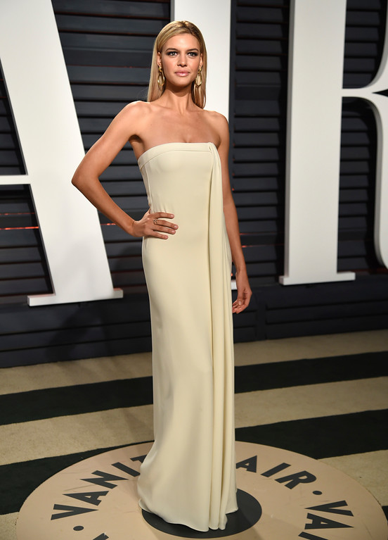 . Model Kelly Rohrbach arrives at the Vanity Fair Oscar Party on Sunday, Feb. 26, 2017, in Beverly Hills, Calif. (Photo by Evan Agostini/Invision/AP)