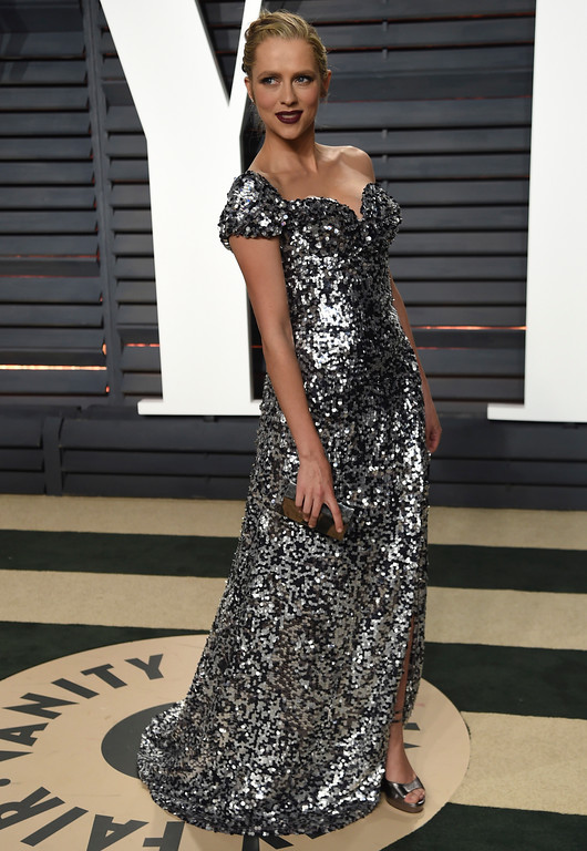 . Actress Teresa Palmer arrives at the Vanity Fair Oscar Party on Monday, Feb. 27, 2017, in Beverly Hills, Calif. (Photo by Evan Agostini/Invision/AP)