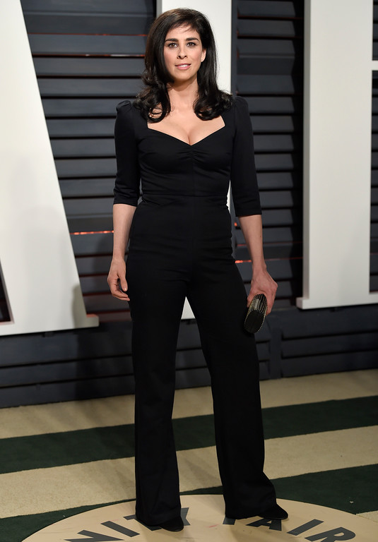 . Sarah Silverman arrives at the Vanity Fair Oscar Party on Sunday, Feb. 26, 2017, in Beverly Hills, Calif. (Photo by Evan Agostini/Invision/AP)