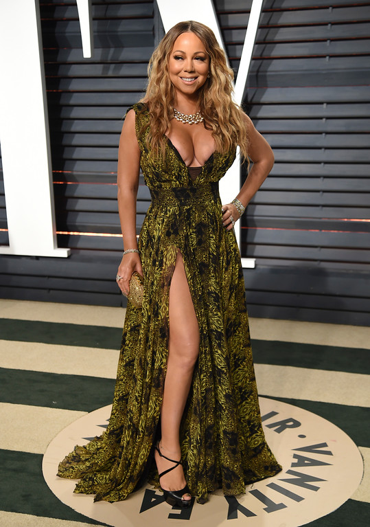 . Mariah Carey arrives at the Vanity Fair Oscar Party on Monday, Feb. 27, 2017, in Beverly Hills, Calif. (Photo by Evan Agostini/Invision/AP)