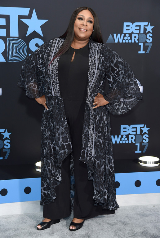 . Loni Love arrives at the BET Awards at the Microsoft Theater on Sunday, June 25, 2017, in Los Angeles. (Photo by Richard Shotwell/Invision/AP)