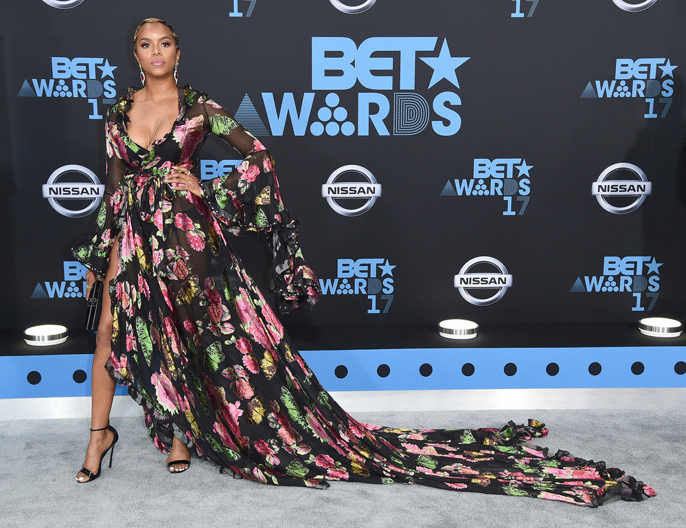 . LeToya Luckett arrives at the BET Awards at the Microsoft Theater on Sunday, June 25, 2017, in Los Angeles. (Photo by Richard Shotwell/Invision/AP)