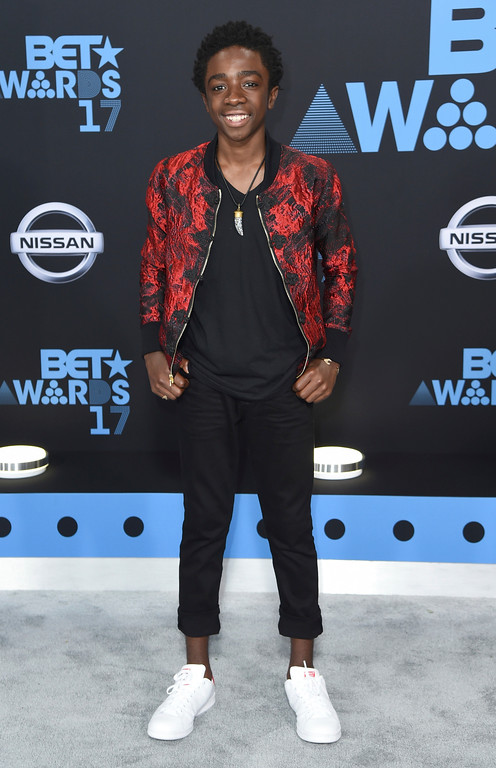 . Caleb McLaughlin arrives at the BET Awards at the Microsoft Theater on Sunday, June 25, 2017, in Los Angeles. (Photo by Richard Shotwell/Invision/AP)