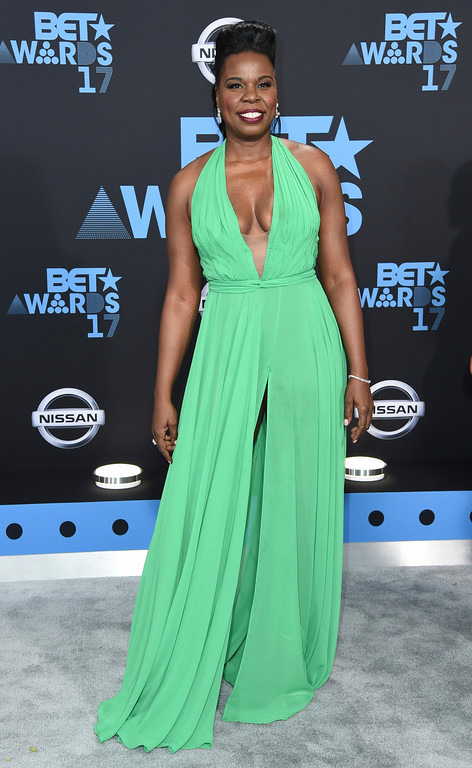 . Leslie Jones arrives at the BET Awards at the Microsoft Theater on Sunday, June 25, 2017, in Los Angeles. (Photo by Richard Shotwell/Invision/AP)
