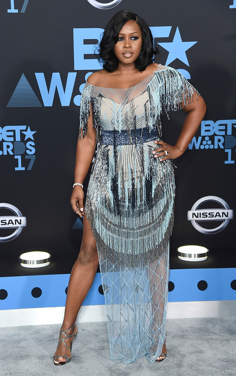 . Remy Ma arrives at the BET Awards at the Microsoft Theater on Sunday, June 25, 2017, in Los Angeles. (Photo by Richard Shotwell/Invision/AP)