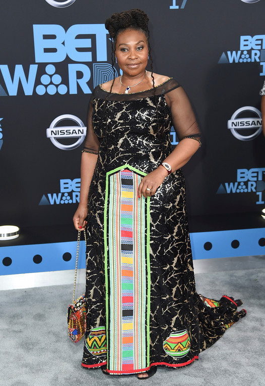 . Yvonne Chaka Chaka arrives at the BET Awards at the Microsoft Theater on Sunday, June 25, 2017, in Los Angeles. (Photo by Richard Shotwell/Invision/AP)