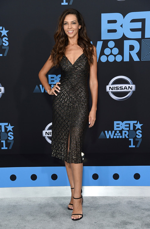 . Terri Seymour arrives at the BET Awards at the Microsoft Theater on Sunday, June 25, 2017, in Los Angeles. (Photo by Richard Shotwell/Invision/AP)