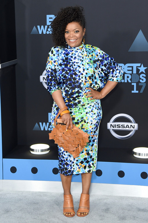 . Yvette Nicole Brown arrives at the BET Awards at the Microsoft Theater on Sunday, June 25, 2017, in Los Angeles. (Photo by Richard Shotwell/Invision/AP)