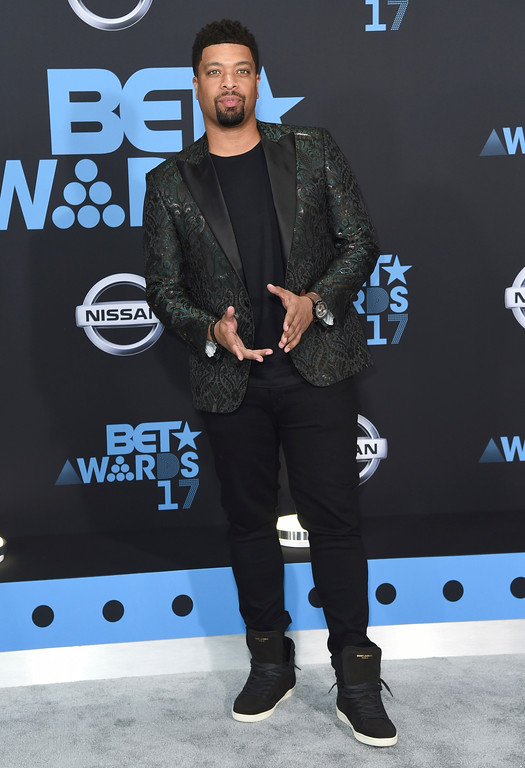 . DeRay Davis arrives at the BET Awards at the Microsoft Theater on Sunday, June 25, 2017, in Los Angeles. (Photo by Richard Shotwell/Invision/AP)