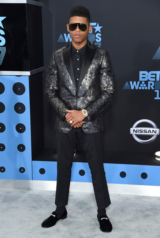. Bryshere Y. Gray arrives at the BET Awards at the Microsoft Theater on Sunday, June 25, 2017, in Los Angeles. (Photo by Richard Shotwell/Invision/AP)