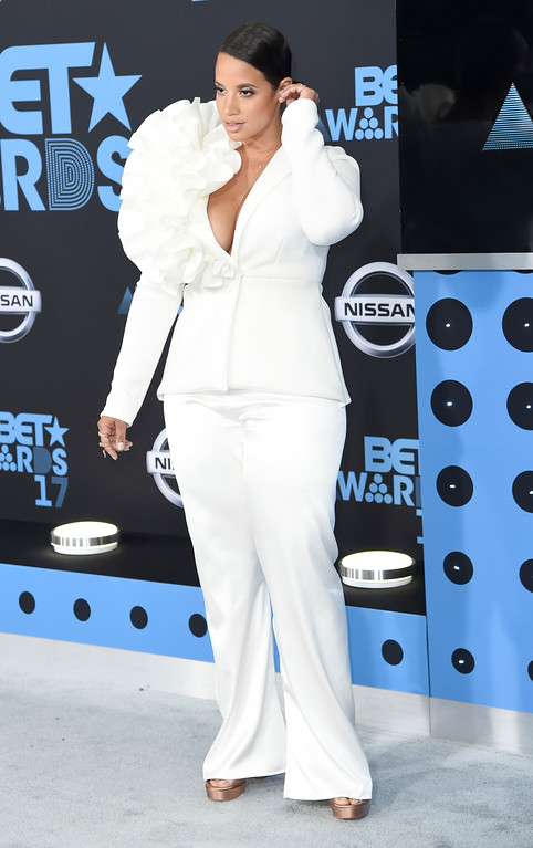 . Dascha Polanco arrives at the BET Awards at the Microsoft Theater on Sunday, June 25, 2017, in Los Angeles. (Photo by Richard Shotwell/Invision/AP)