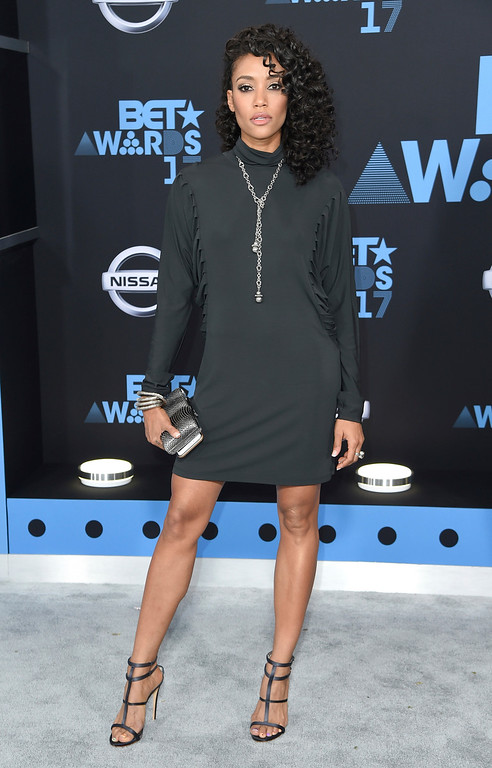 . Annie Ilonzeh arrives at the BET Awards at the Microsoft Theater on Sunday, June 25, 2017, in Los Angeles. (Photo by Richard Shotwell/Invision/AP)