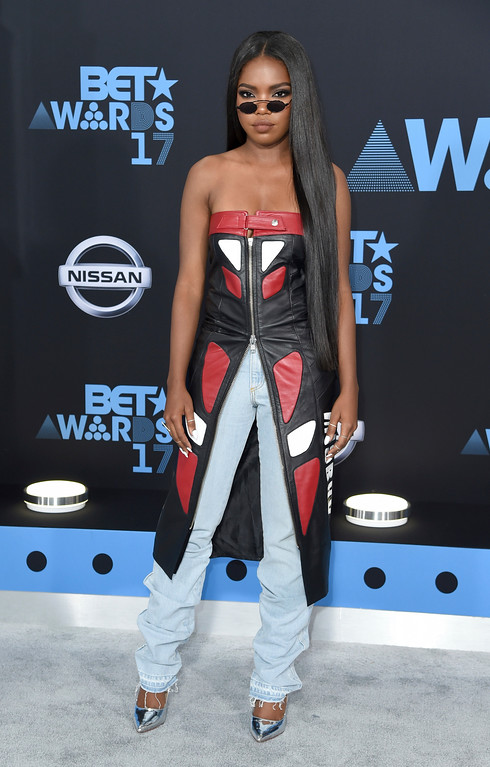. Ryan Destiny arrives at the BET Awards at the Microsoft Theater on Sunday, June 25, 2017, in Los Angeles. (Photo by Richard Shotwell/Invision/AP)