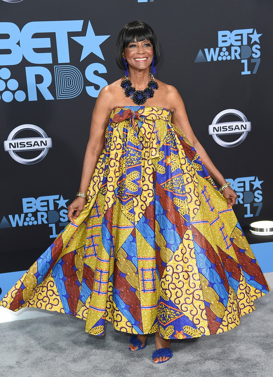 . Margaret Avery arrives at the BET Awards at the Microsoft Theater on Sunday, June 25, 2017, in Los Angeles. (Photo by Richard Shotwell/Invision/AP)