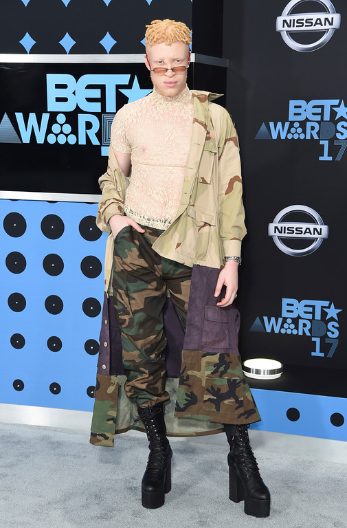 . Shaun Ross arrives at the BET Awards at the Microsoft Theater on Sunday, June 25, 2017, in Los Angeles. (Photo by Richard Shotwell/Invision/AP)