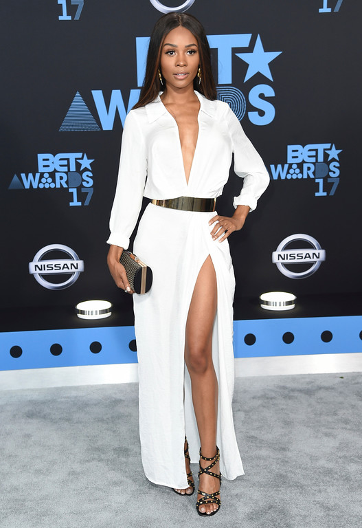 . Zuri Hall arrives at the BET Awards at the Microsoft Theater on Sunday, June 25, 2017, in Los Angeles. (Photo by Richard Shotwell/Invision/AP)