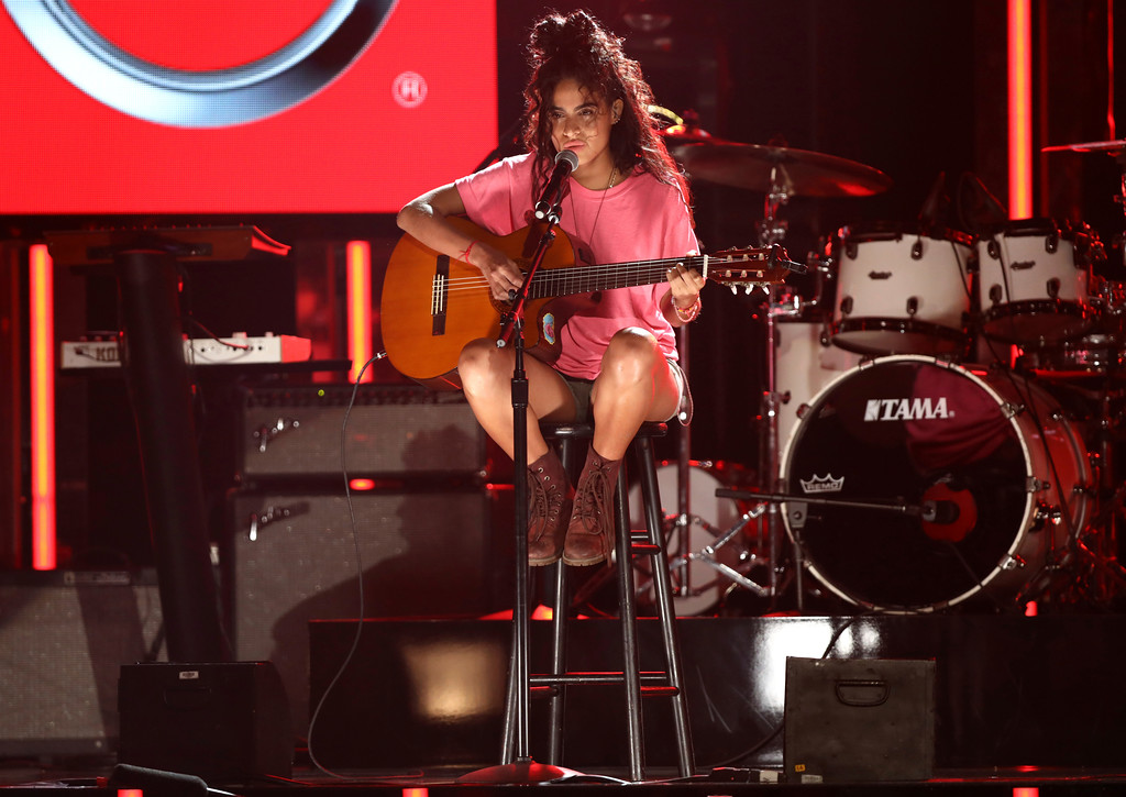 . Jessie Reyez performs at the BET Awards at the Microsoft Theater on Sunday, June 25, 2017, in Los Angeles. (Photo by Matt Sayles/Invision/AP)