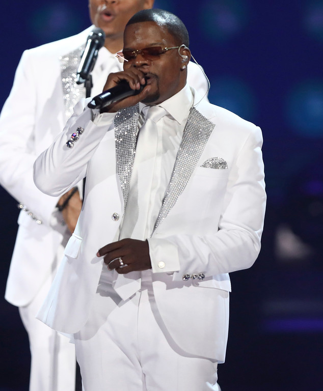 . Ricky Bell, of New Edition, performs at the BET Awards at the Microsoft Theater on Sunday, June 25, 2017, in Los Angeles. (Photo by Matt Sayles/Invision/AP)